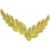 Motif Sequin/beads 26x8cm Leaf Shape Gold Hologram
